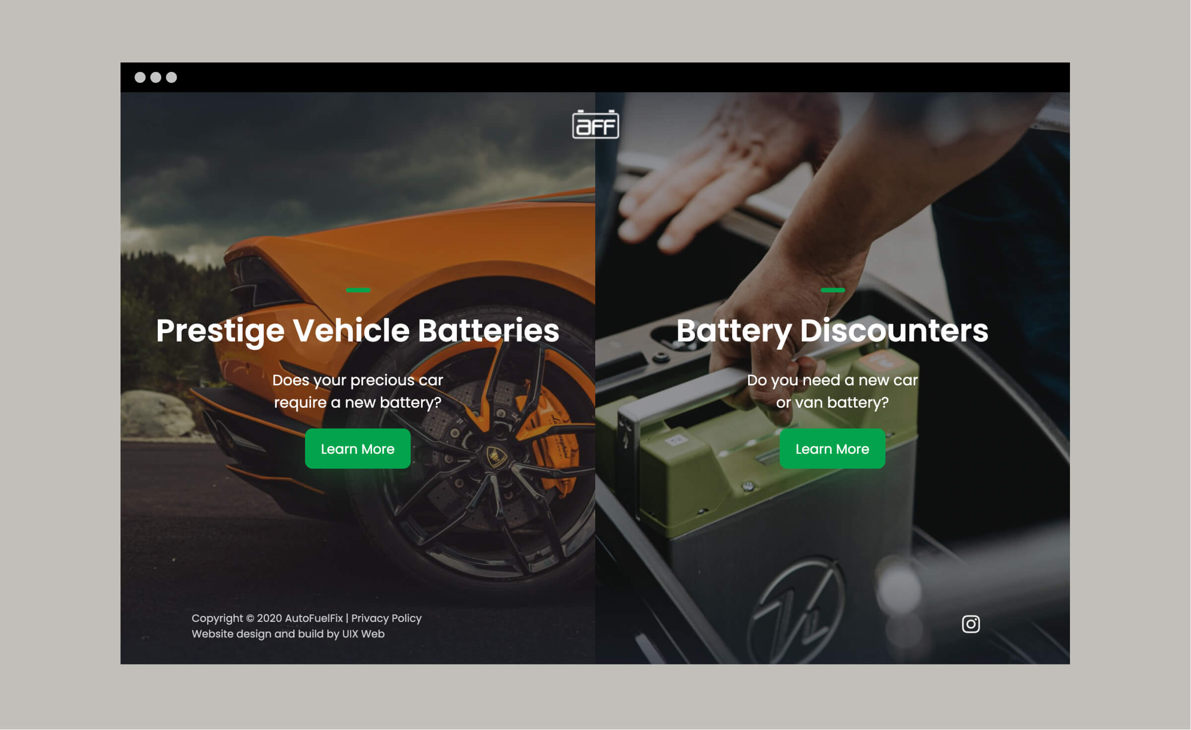 Home Page Of Car Battery Website
